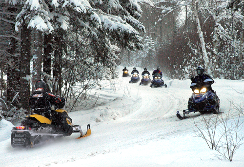 Curtis Michigan Snowmobiling