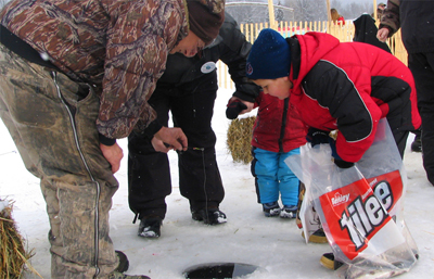 Pure Curtis in the Winter:   ice-fishing, snowmobiling, cross country skiing, and skating - which is offered at the Erickson Center's outdoor rink